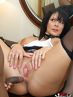 Dirty Maid Carly Cum Slut loved cleaning and polishing this guys big black cock!