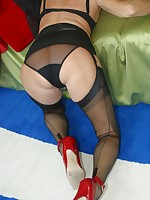Girdle and stocking milf tease
